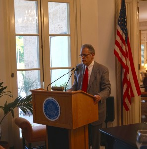 Ambassador speaking